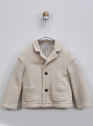 Shawl Collar -  - Beige - Baby Jacket