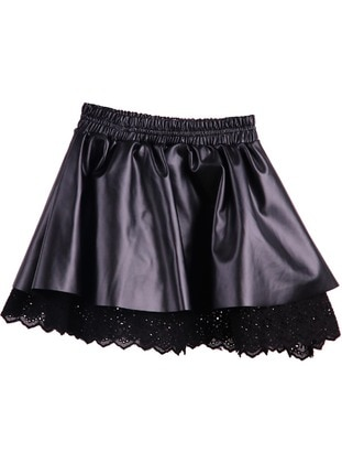 Black - Girls` Skirt