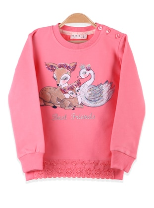 Coral - Girls` Sweatshirt