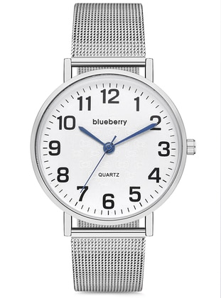 Silver tone - Watch - Blueberry