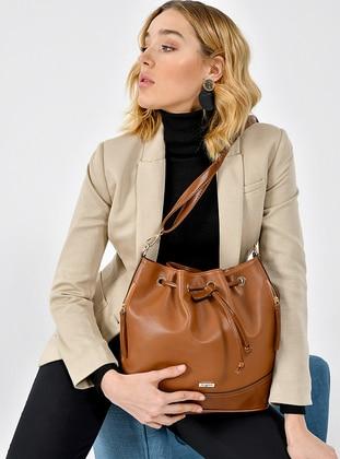 Brown - Backpack - Shoulder Bags