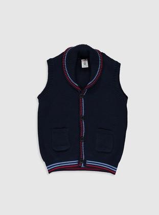 Navy Blue - Baby Cardigan - LC WAIKIKI