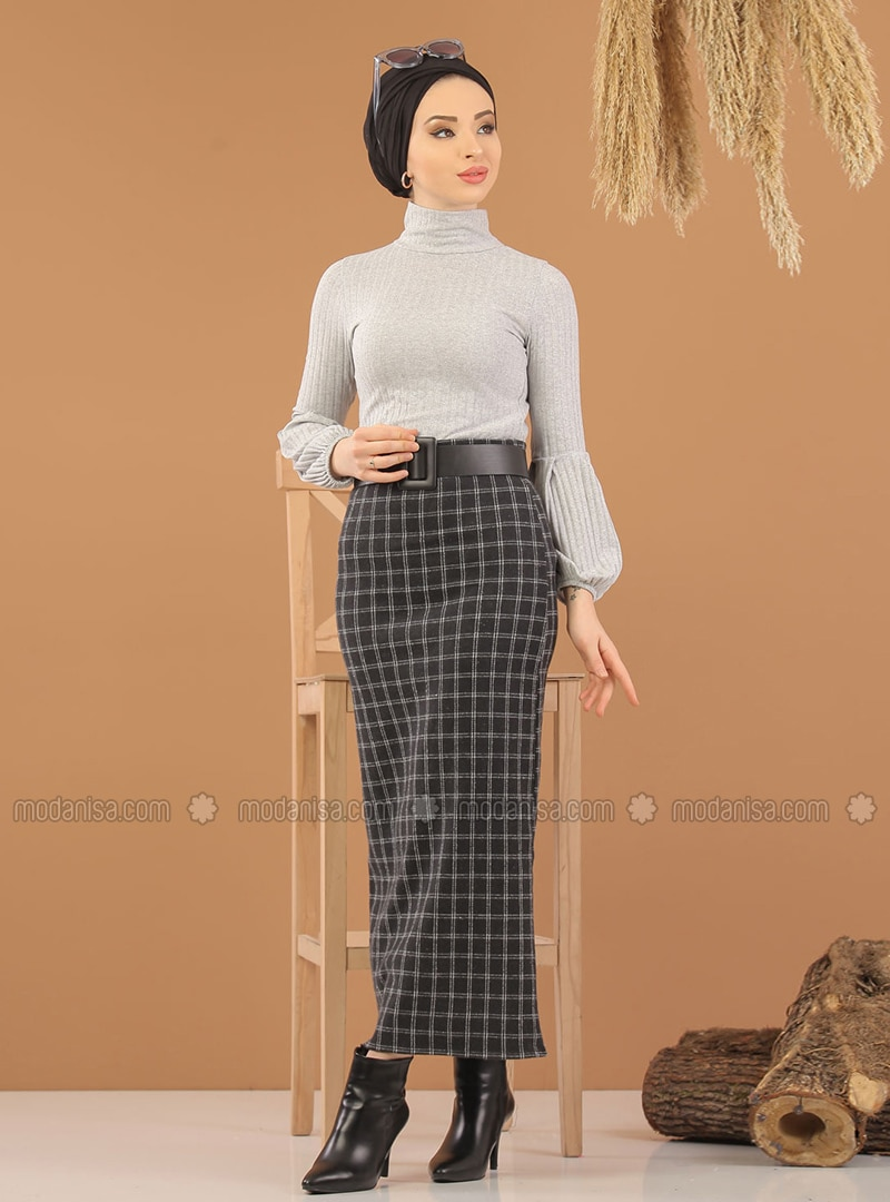 Gray - Black - Stripe - Unlined -  - Suit