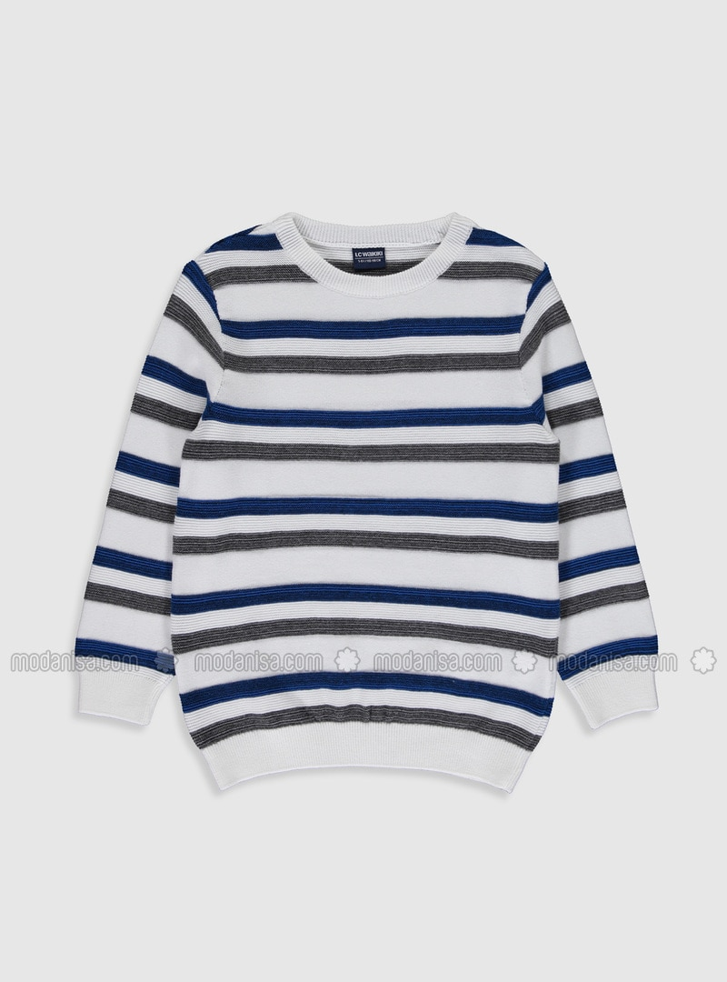 White - Boys` Pullover