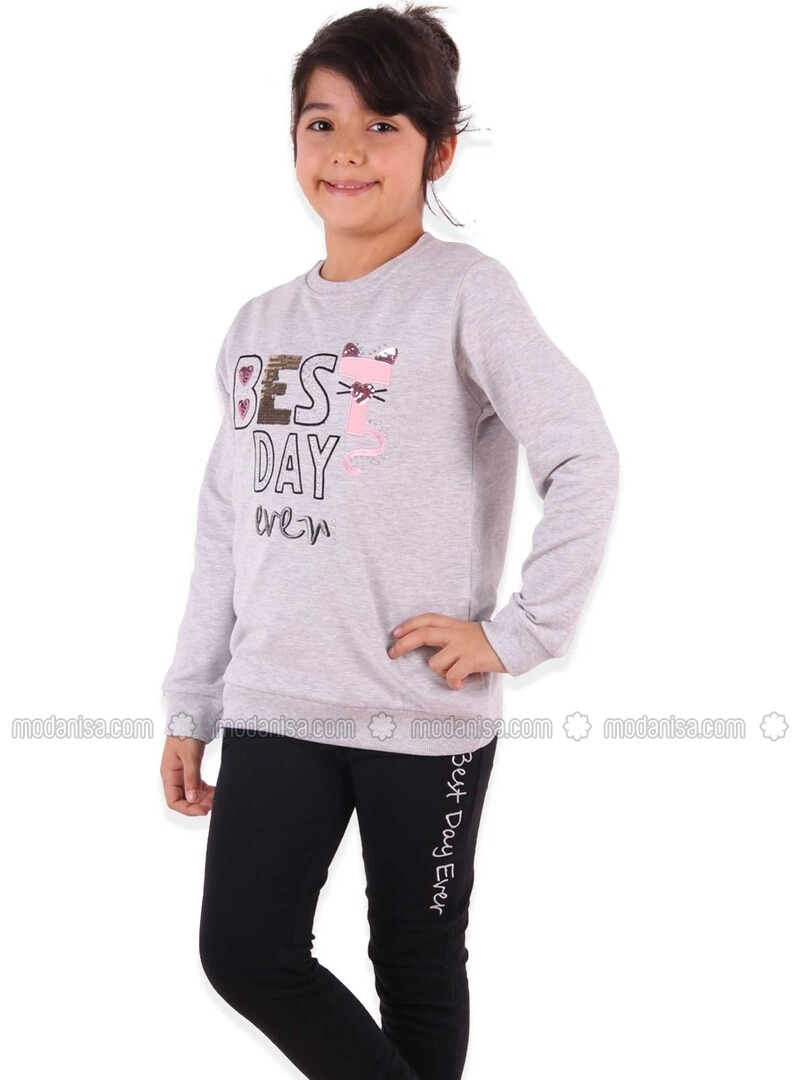 Gray - Girls` Tracksuit