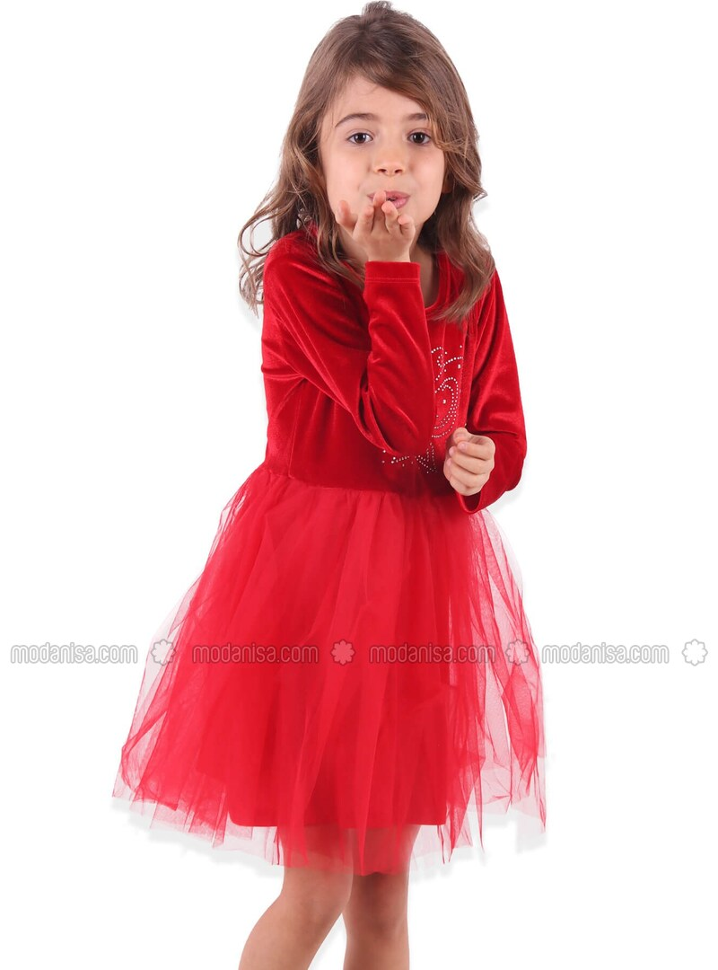 Rouge Robes Pour Fille