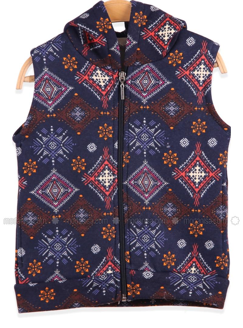 Navy Blue - Girls` Vest