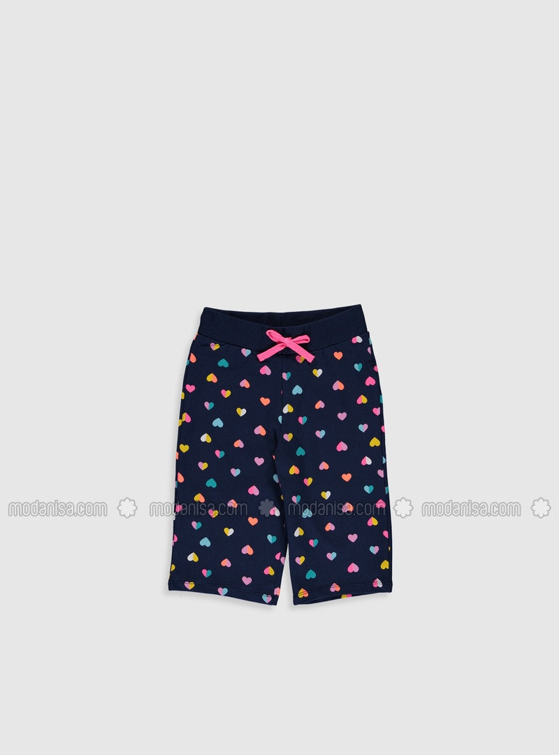 Navy Blue - Girls` Shorts