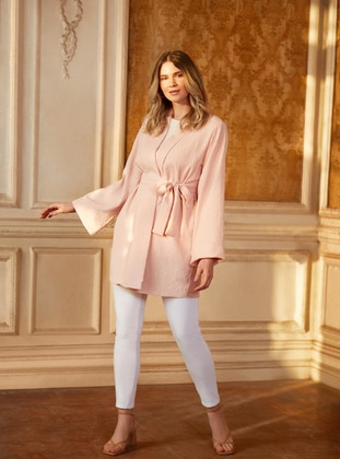 Oversize Natural Fabric Molder Jeans - White - Alia