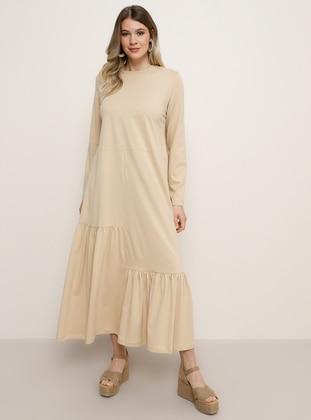 Stone - Crew neck - Plus Size Dress