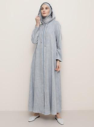 Indigo - Blue - Viscose - Abaya