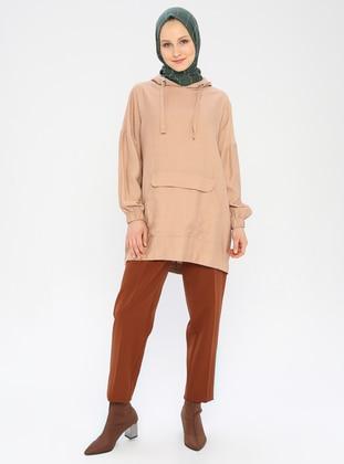 Camel - Viscose - Pants