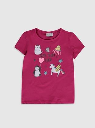 Fuchsia - Girls` T-Shirt - LC WAIKIKI