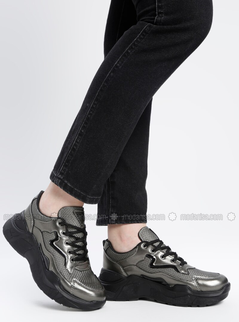 Spor Ayakkabı - Platin Siyah