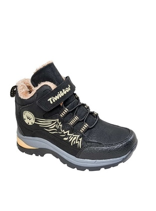 Black - Boot - Boys` Boots - Kaptan Junior