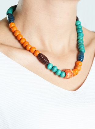 Orange - Green - Necklace