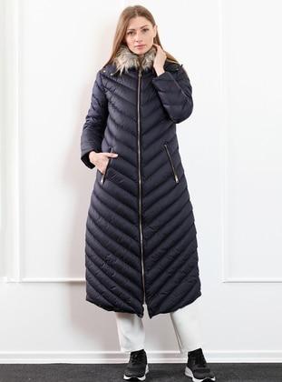 Navy Blue - Unlined - Coat
