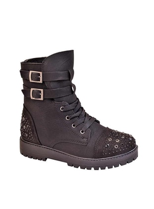 Black - Boot - Girls` Boots
