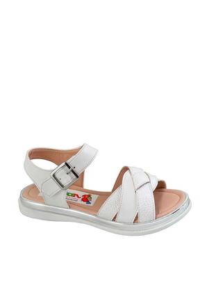 White - Sandal - Girls` Sandals - Kaptan Junior