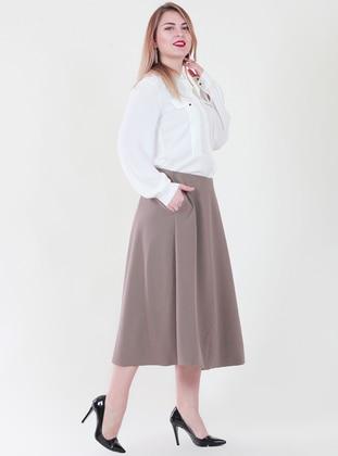 Mink - Fully Lined - Viscose - Skirt
