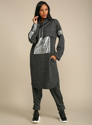 Gray - Polo neck -  - Tunic
