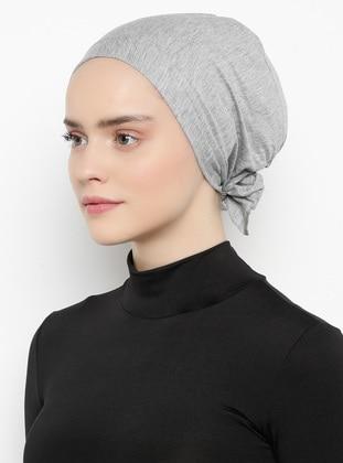 Gray - Lace up - - Bonnet