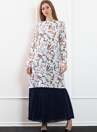 Navy Blue -  - Skirt