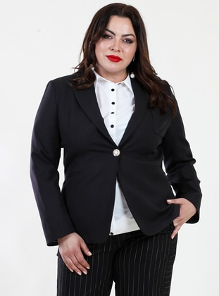 Black - Fully Lined - Viscose - Jacket