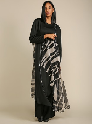 Multi - Black - Multi - Crew neck - Tunic