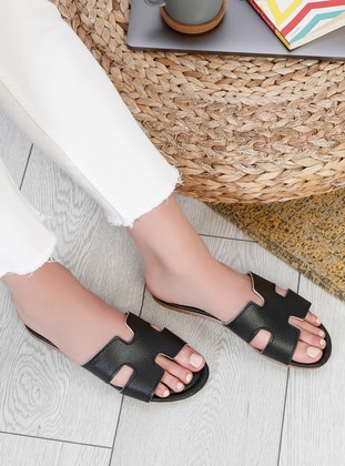 Black - Sandal - Slippers - Snox