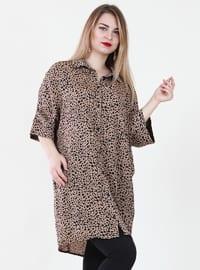 Mink - Leopard - Point Collar - Tunic
