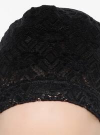 Black - Lace up - Lace - Bonnet