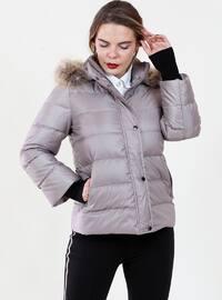 Gray - Fully Lined - Coat