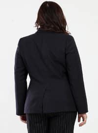 Black - Fully Lined - Viscose - Jacket