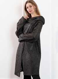 Khaki - Shawl Collar - Wool Blend - Cardigan