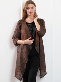 Tan - Shawl Collar - Wool Blend - Cardigan