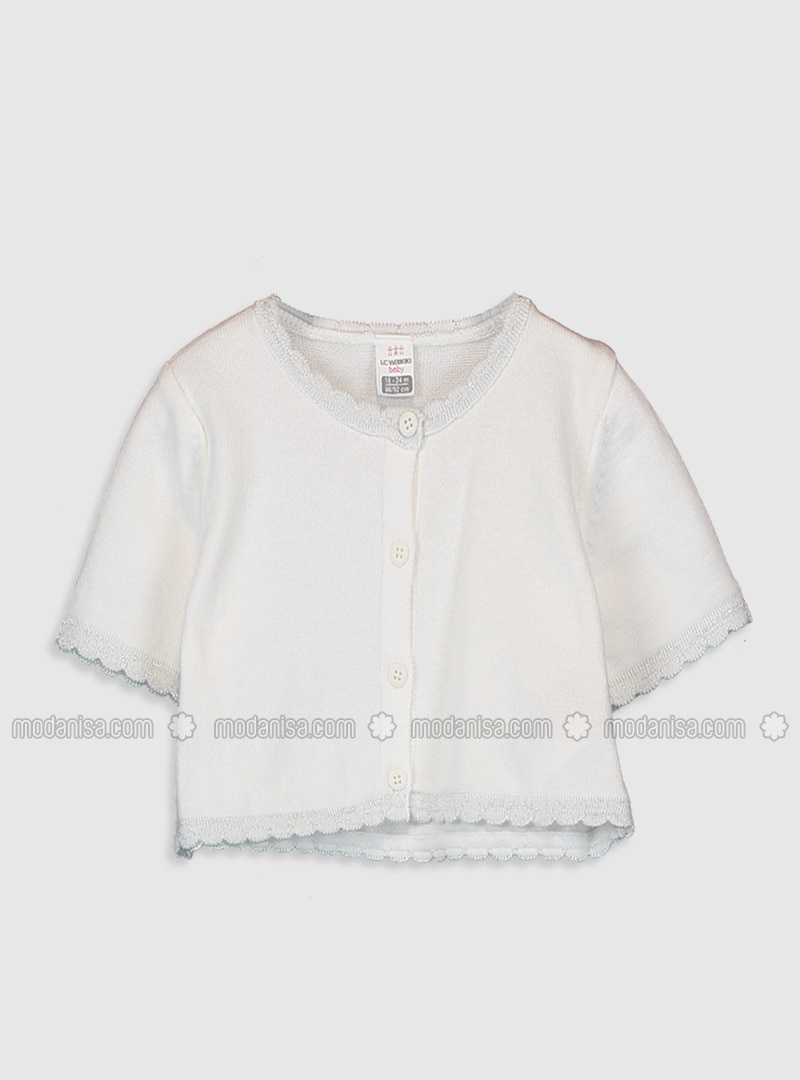 White - Baby Cardigan