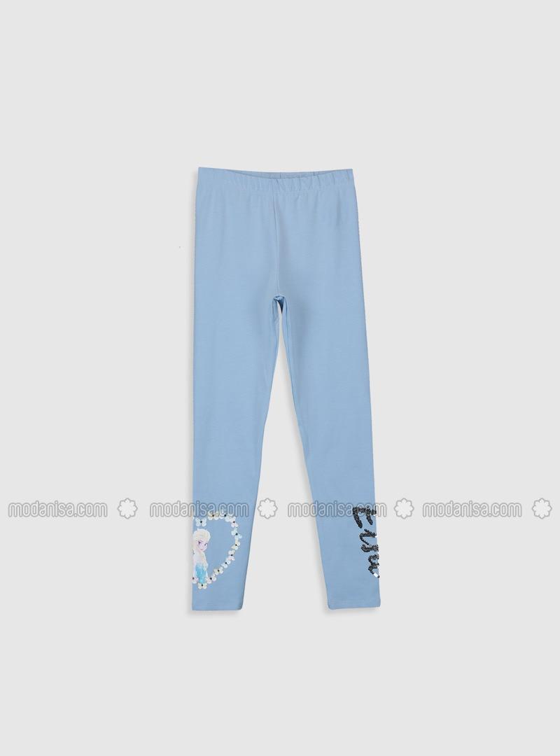Blue - Girls` Leggings