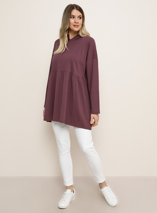 Purple -  - Plus Size Tunic - Alia