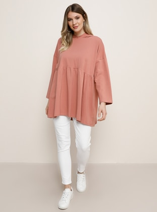 Salmon -  - Plus Size Tunic