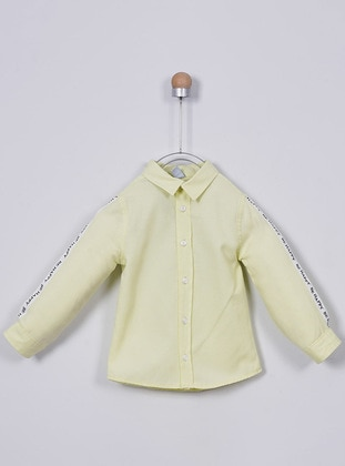Point Collar - Cotton - Unlined - Yellow - Boys` Shirt