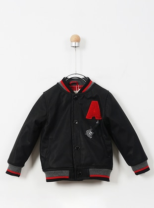 Cotton - Unlined - Black - Baby Jacket