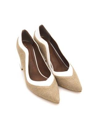 Straw - White - High Heel - Heels