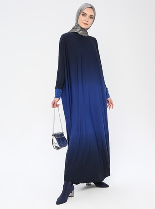 Saxe - Unlined - Crew neck - Abaya