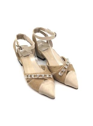 Beige - Sandal - High Heel - Sandal