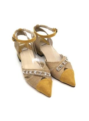 Yellow - Sandal - High Heel - Sandal
