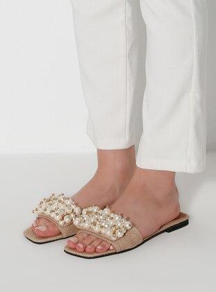 White - Camel - Sandal - Slippers