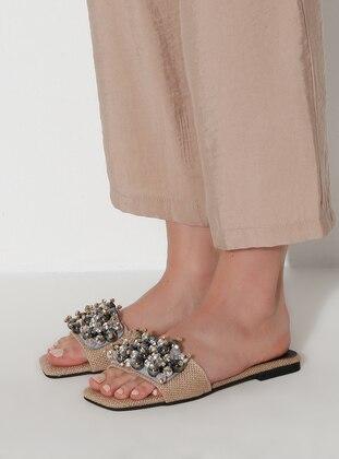 Camel - Black - Sandal - Slippers