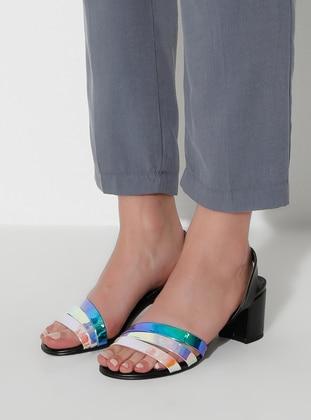 Multi - Black - High Heel - Sandal