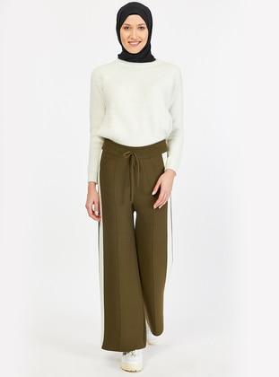 Khaki - Acrylic - Pants